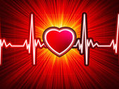 Heart beating monitor with burst. EPS 10 — Stock Vector