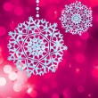 Christmas background with snowflakes. EPS 8 — Imagen vectorial