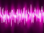Sound waves oscillating glow light. EPS 8 — Stock Vector