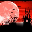 Royalty-Free Stock Vectorafbeeldingen: Spooky Halloween with horror house. EPS 8