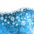 Royalty-Free Stock Vector Image: Christmas background with snowflakes. EPS 8