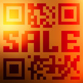 QR code for item in sale. EPS 10 — Stockvektor