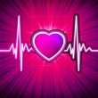 Heart beating monitor with burst. EPS 10 — 图库矢量图片