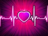 Kalp atışı monitör patlama ile. eps 10 — Stok Vektör