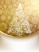 Christmas Tree, Greeting Card. EPS 8 — ストックベクタ