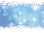 Christmas blue background with snow flakes. EPS 8 — Stock Vector