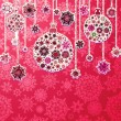 Christmas purple background with baubles. EPS 8 — Imagen vectorial