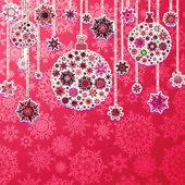 Christmas pink background with baubles. EPS 10 — Stock Vector