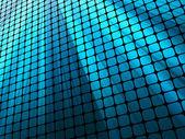 Blue rays light 3D mosaic. EPS 10 — Stock Vector