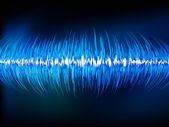 Ondas de sonido oscilante en negro. eps 10 — Vector de stock
