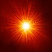 Star burst red and yellow fire. EPS 10 — Vector de stock