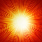 Star burst red and yellow fire. EPS 10 — Stock Vector