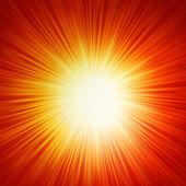 Star burst röda och gula brand. eps 10 — Stockvektor