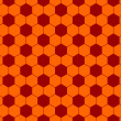 Seamless football pattern red orange. EPS 10 — Imagen vectorial
