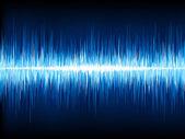 Ses dalgaları, siyah üzerine salınan. eps 10 — Stok Vektör