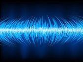 Ljudvågor oscillerande på svart. eps 10 — Stockvektor