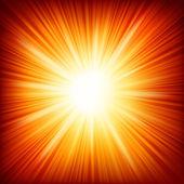 Estrellas estallan fuego rojo y amarillo. eps 10 — Vector de stock