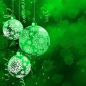 Fondo con adornos en navidad bokeh. eps 10 — Vector de stock