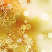 Festive gold Christmas with bokeh lights. EPS 10 — Stock Vector