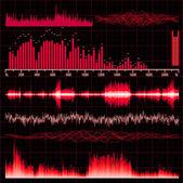 Sound waves set. Music background. EPS 10 — Stockvektor