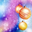 Christmas ball on abstract blue lights. EPS 10 — 图库矢量图片