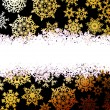 Abstract gold winter with snowflakes. EPS 10 — Imagen vectorial