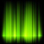 Green northern lights, aurora borealis. EPS 10 — Stock Vector