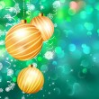 Christmas bokeh background with baubles. EPS 10 — Stock Vector