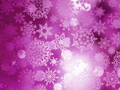 Pink Christmas background with snowflakes. EPS 10 — Stock Vector