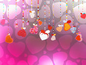Valentines Day Background. EPS 10 — Stock Vector
