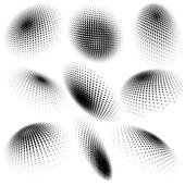 抽象的なハーフトーンの円の設計。eps 10 — ストックベクタ