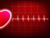 Abstract heart beats cardiogram. EPS 10 — Vettoriale Stock