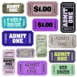 Set of ticket admit one. EPS 8 — Stock Vector #47697263