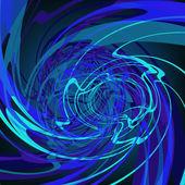 Fond bleu fantaisie style abstrait. eps8 — Vecteur