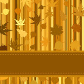 Gold autumn background with leaves. EPS 8 — Stock Vector