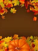 Abstrait automne avec les feuilles. Eps 8 — Vecteur
