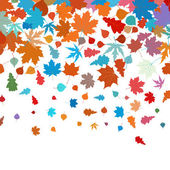 Autumn leafs abstract background. EPS 8 — Stock Vector