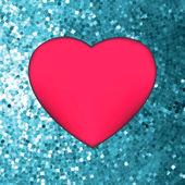 Heart on glitter light Valentine's day. EPS 8 — ストックベクタ
