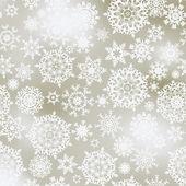 Elegant Christmas with white snowflakes. EPS 8 — Stock Vector