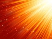 Снежинки и звезды, по убыванию на красный. EPS 8 — Cтоковый вектор