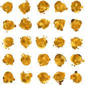 Abstract gold speech bubble. EPS 8 — Stock Vector