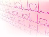 Electrocardiogram, waveform from EKG test. EPS 8 — Stock Vector