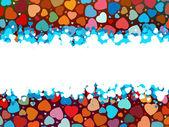 美しいカラフルなハート形の背景。eps 8 — ストックベクタ