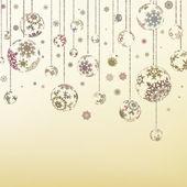 レトロなクリスマスの装飾品。eps 8 — ストックベクタ