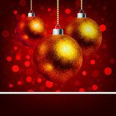 Vánoční ozdoby s pozadím bokeh. EPS 8 — Stock vektor
