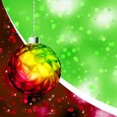 Colorful Christmas Ball card template. EPS 8 — Stock Vector