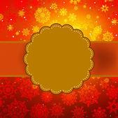 Cute warm color christmas card. EPS 8 — Stock Vector