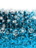 Christmas card, cute misaic dot in blue. EPS 8 — Stock Vector