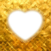 Gold frame in the shape of heart. EPS 8 — Stockvektor