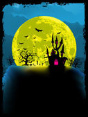 Spooky halloween background. EPS 8 — Stock Vector